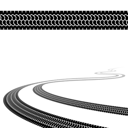 winding trace of the terrain tyres Stock Vector - 14941386