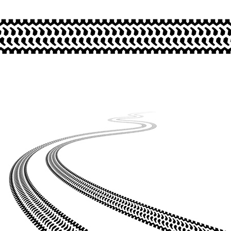 winding trace of the terrain tyres Stock Vector - 14941360