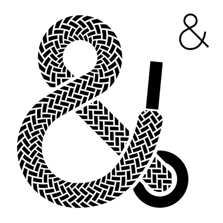 shoe lace ampersand symbol Vector