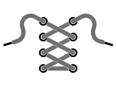 chaussure sport: symbole de lacet de chaussure