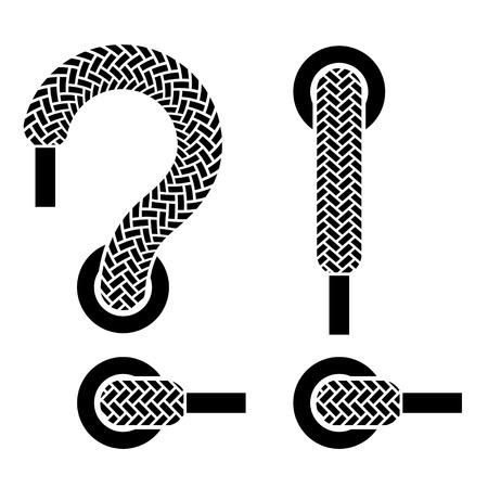 shoelaces: shoe lace question exclamation marks