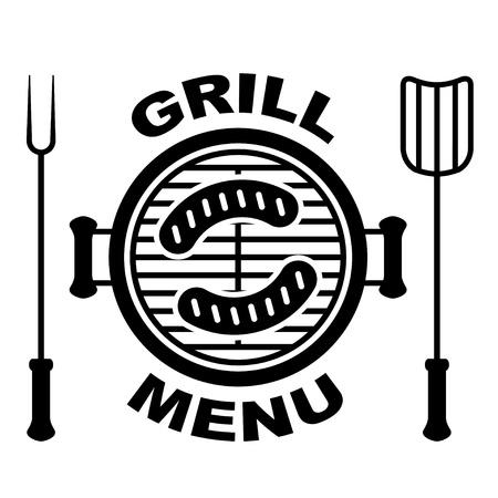 Symbole du menu grill Banque d'images - 14940808