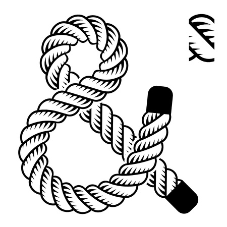 marine industry: black rope ampersand symbol