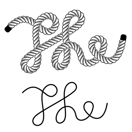 marine industry: black rope the vintage symbol