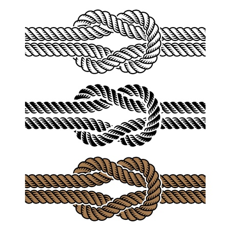 fastening objects: black rope knot symbols