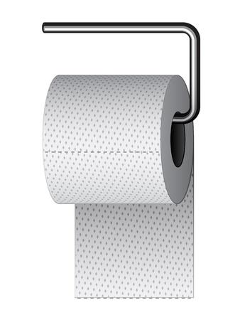 inodoro: papel higiénico en el soporte de cromo