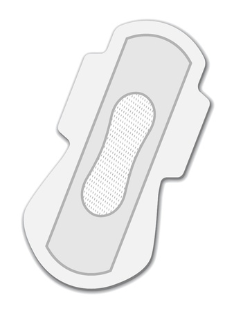 sanitary napkin: vector sanitary napkin night use