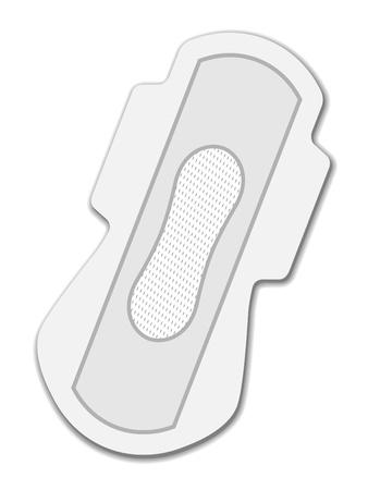 menses: vector sanitary napkin night use