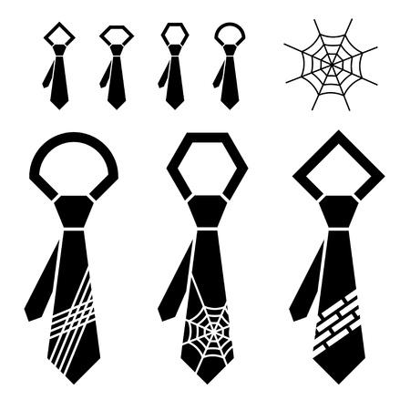 black tie: vector tie black symbols