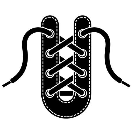 vector shoe lace symbol Vector