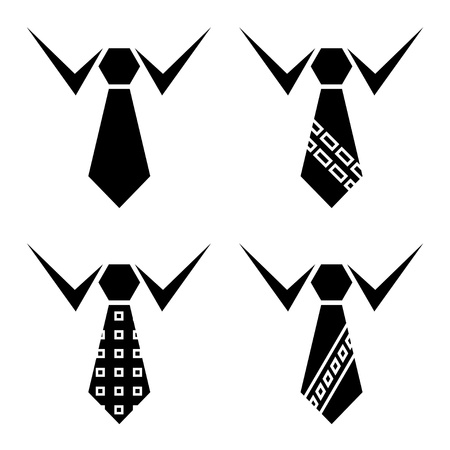 neck tie: vector tie black symbols