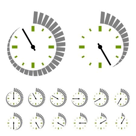 símbolos circulares temporizador