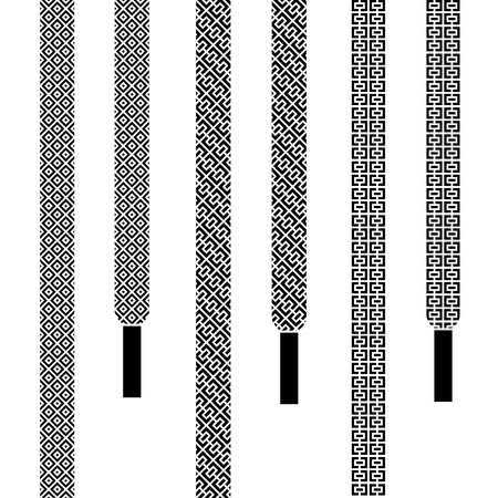shoelace: vector shoe lace seamless symbols