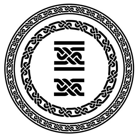 celtico: senza soluzione di continuit� vettore cornici nodi ornamentali Vettoriali