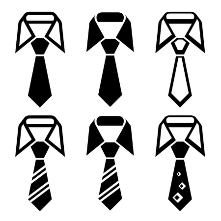 formal shirt: vector tie black symbols