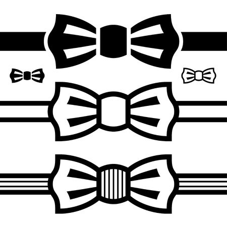 vector bow tie black symbols Stock Vector - 16161533