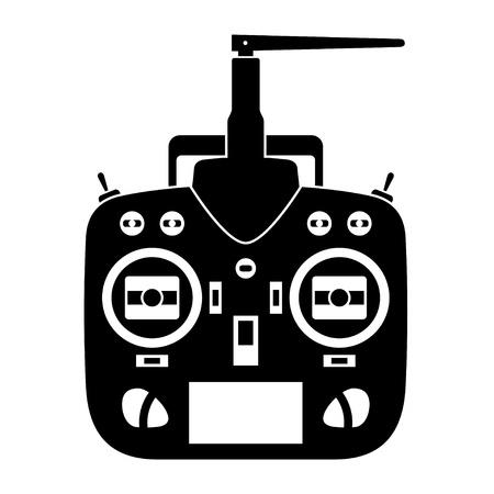 vecteur télécommande rc émetteur icône noire