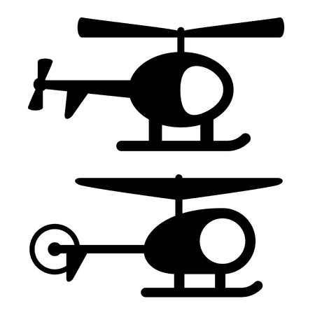 vector helicopter black symbols Stock Vector - 16161516