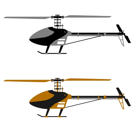 heli: vector helicopter rc model icons