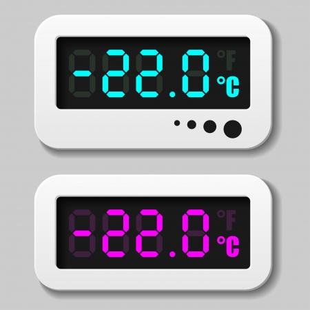 digital thermometer: incandescente icone del termometro digitale