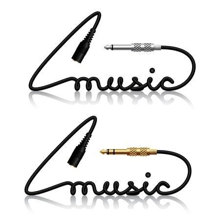 connectors:  jack connectors music calligraphy