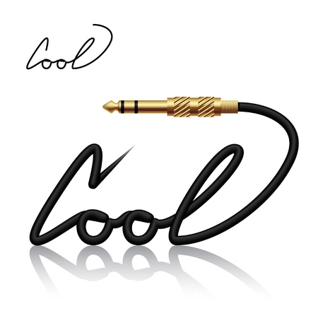 steel cable: jack connector cool calligraphy
