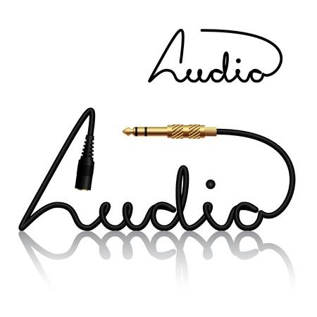 input: jack connectors audio calligraphy