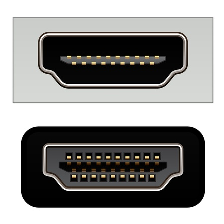 hdmi digital video connectors Vector