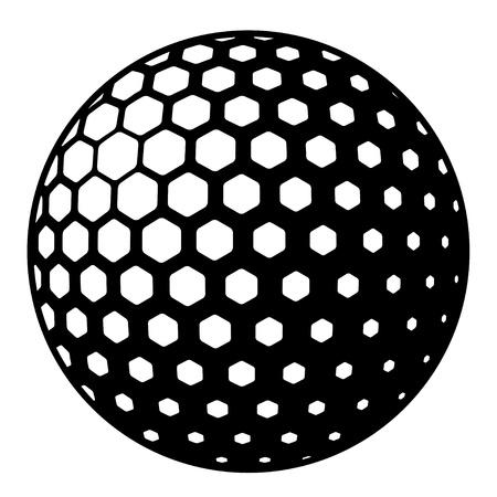 pelota de golf: pelota de golf símbolo Vectores