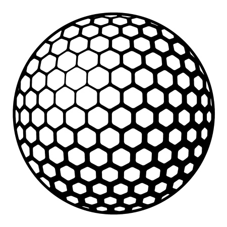 golf hole: golf ball symbol