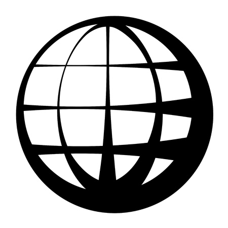 globe black symbol Illustration