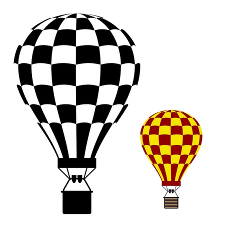 air sport: hot air balloon black symbol