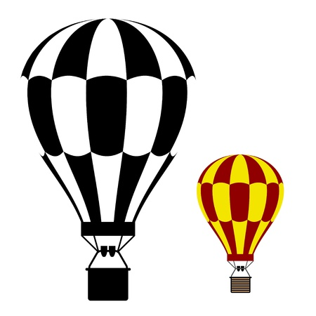 hot air balloon black symbol Vector