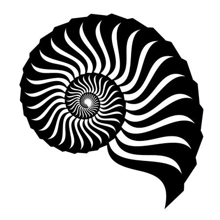 shell silueta Ilustración de vector