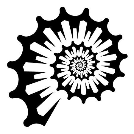 fibonacci: shell silhouette