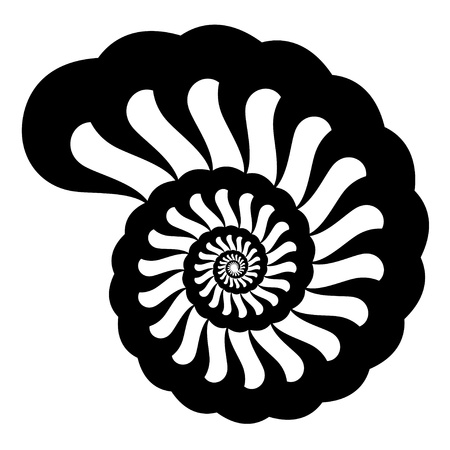 cockle: shell silhouette