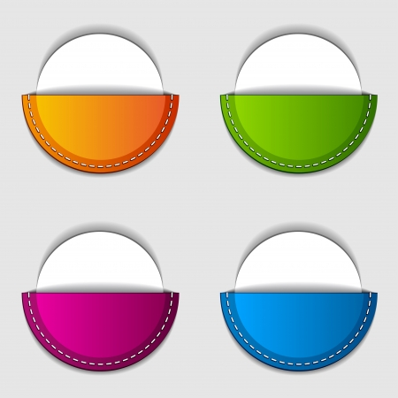 round pocket labels Stock Vector - 17712519
