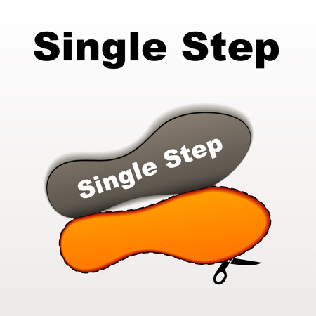 imprint single step Stock Vector - 17712506
