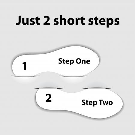 paper imprint short steps Stock Vector - 17712293