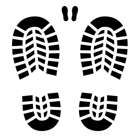 clean shoe imprint Illustration
