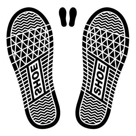 clean shoe imprints Illustration