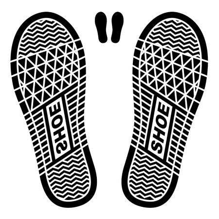 shoe print:  clean shoe imprints Illustration