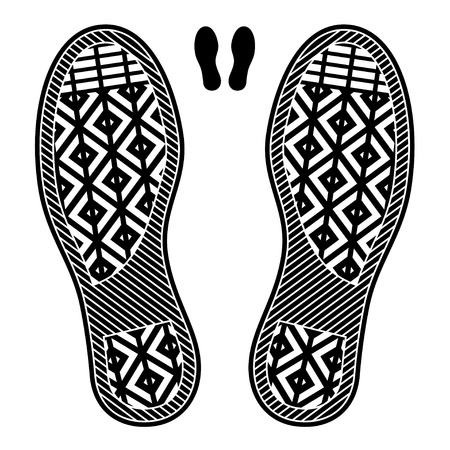 the sole of the shoe: clean shoe imprints