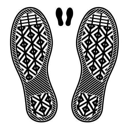 huellas pies: huellas de calzado limpios