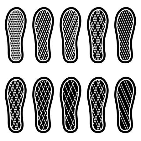 saubere Schuhe Prägungen
