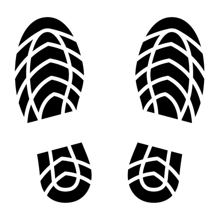 the sole of the shoe:  clean shoe imprints Illustration