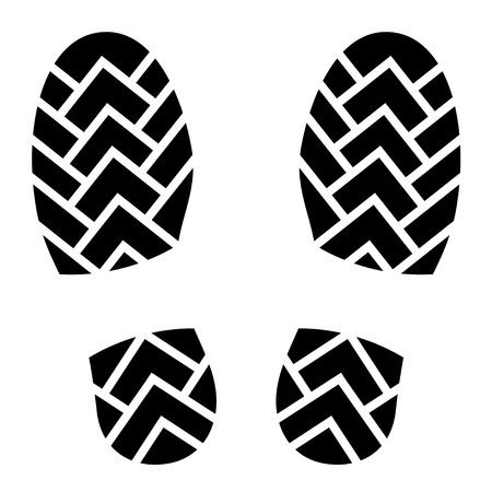 individualit�: impronte di scarpe pulite Vettoriali