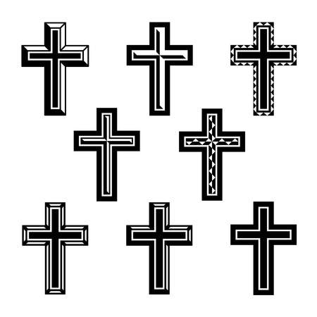 jesus cross: vector christian crosses Illustration