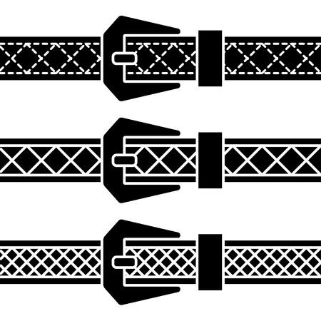 leather belt: buckle belt black symbols