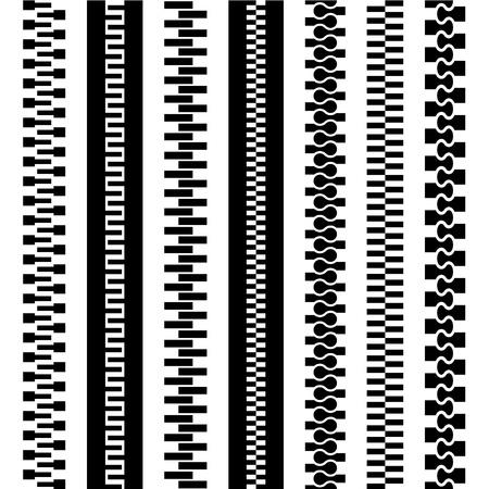 vector seamless zipper black symbols Stock Vector - 19587401